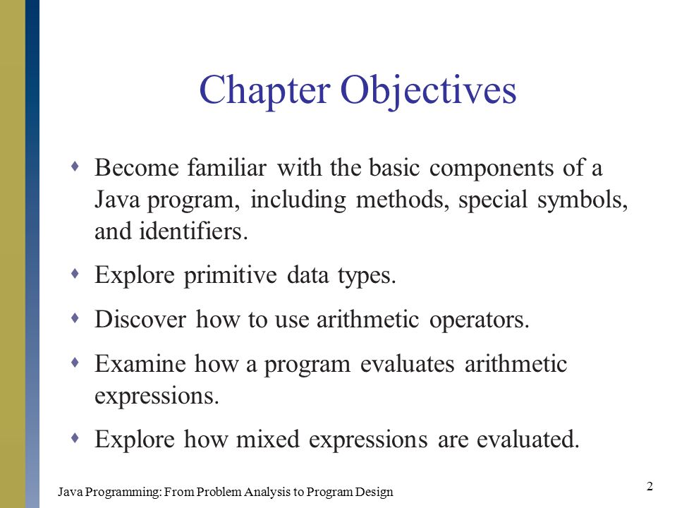 Chapter 2 Basic Elements Of Java Ppt Download