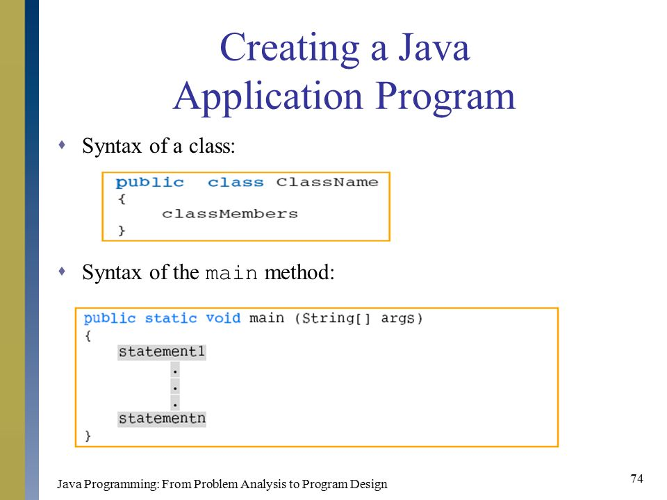 how to call a method in main class in java