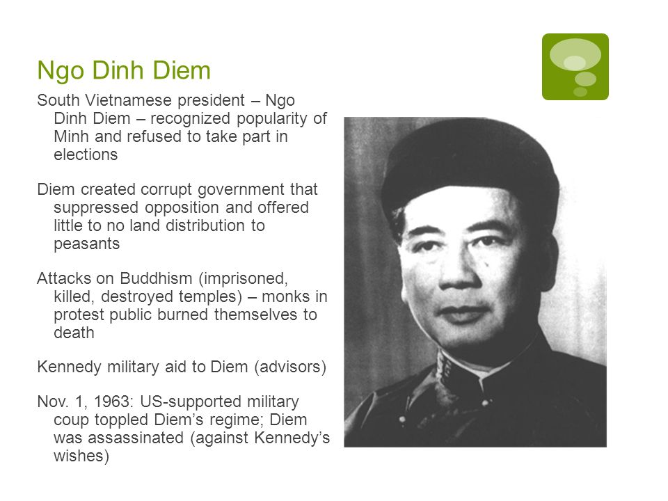 Image result for south vietnam's ngo dinh killed after coup