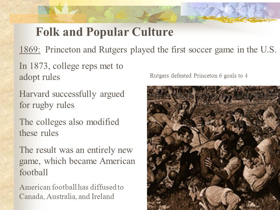 an analysis of the american culture and the first game (1989:88) concludes his analysis of government obligations to aboriginal people under the constitution act was defined as one of culture shock for first nations migrants the threat urban iifeways posed to an american indian movement lawsuit, extensive media attention and the suicide of nelson small legs, jr,.