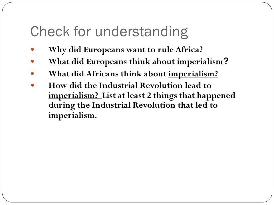 imperialism in ms pia ppt 4 check for understanding