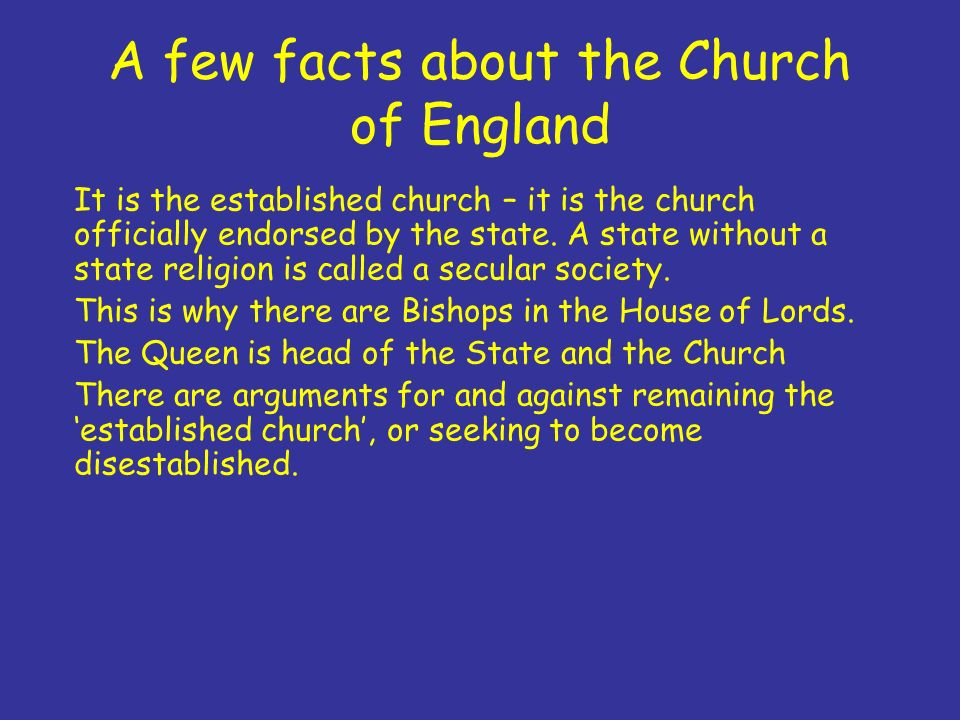facts about the church of england A few intriguing facts about england and interesting things to learn about this european country bank of england castles in england church of england cities in.