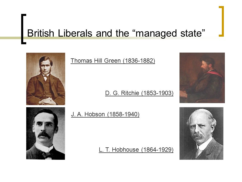 British Liberals and the managed state