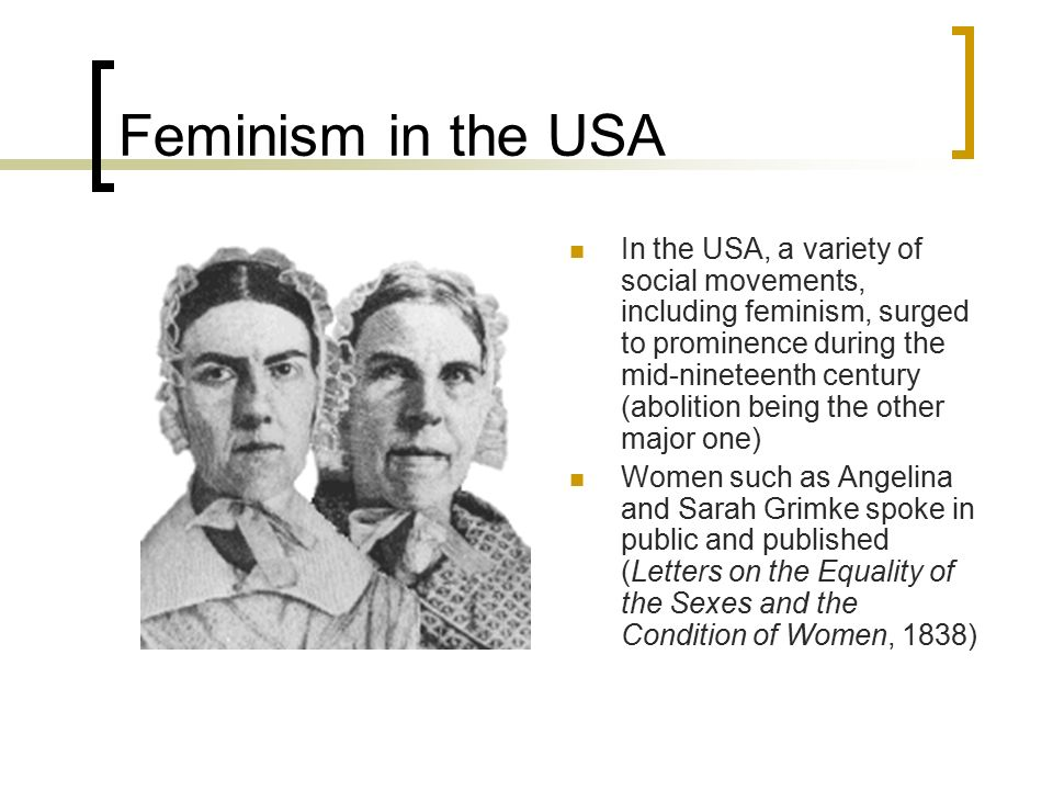Feminism in the USA