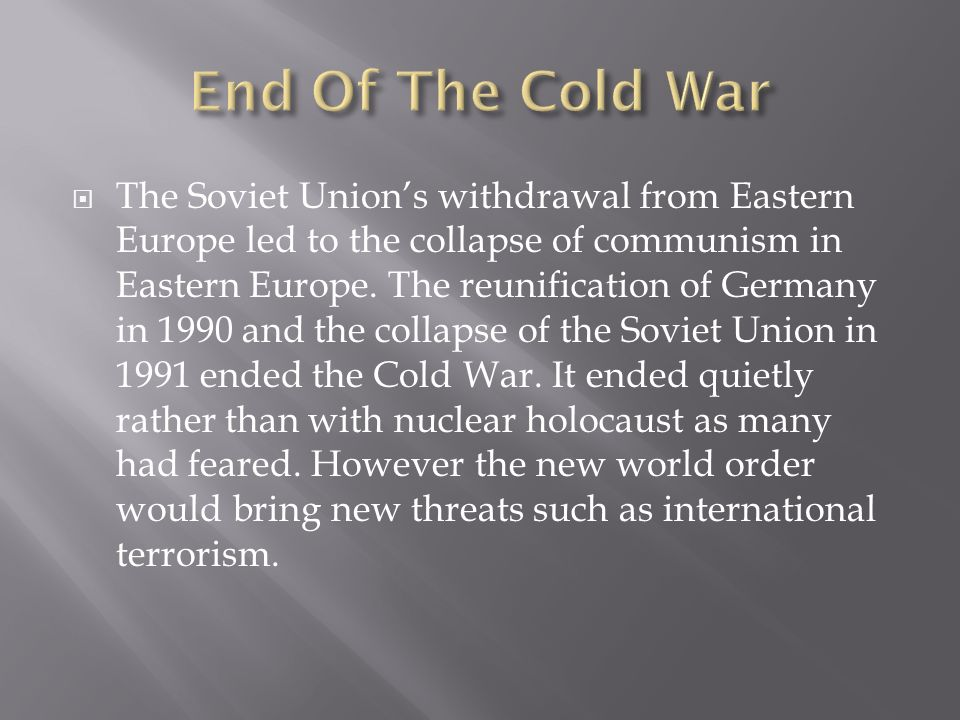 the fall of communism and the impact it had on eastern europe Constitutional rights foundation bill of rights in action compare the rights people had under communism in eastern europe with the rights people have in western.
