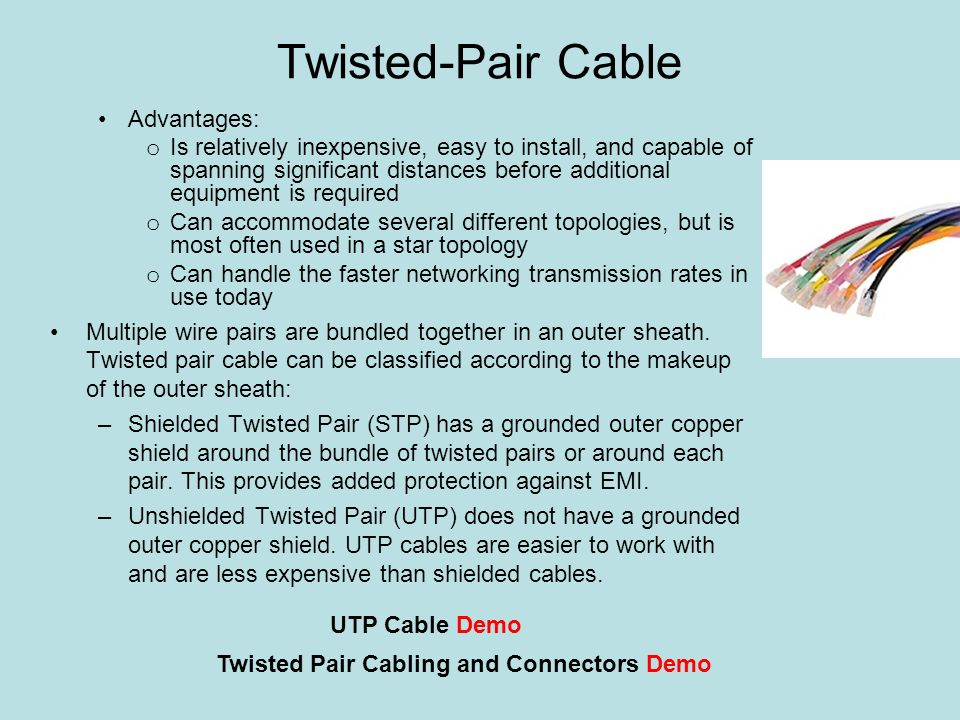 the benefits of twisted pair cables The first thing that should be done in this case is to add a server to the network and make the change from a peer-to-peer network to a client/server network.