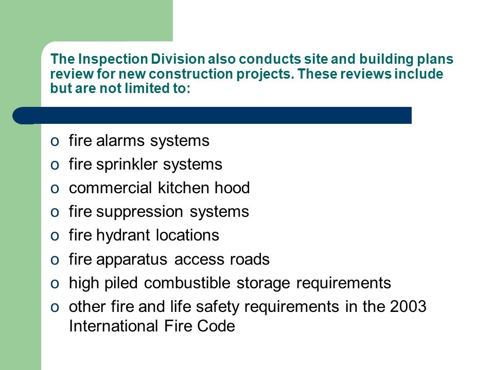 Fire Safety Inspection Management Ppt Download