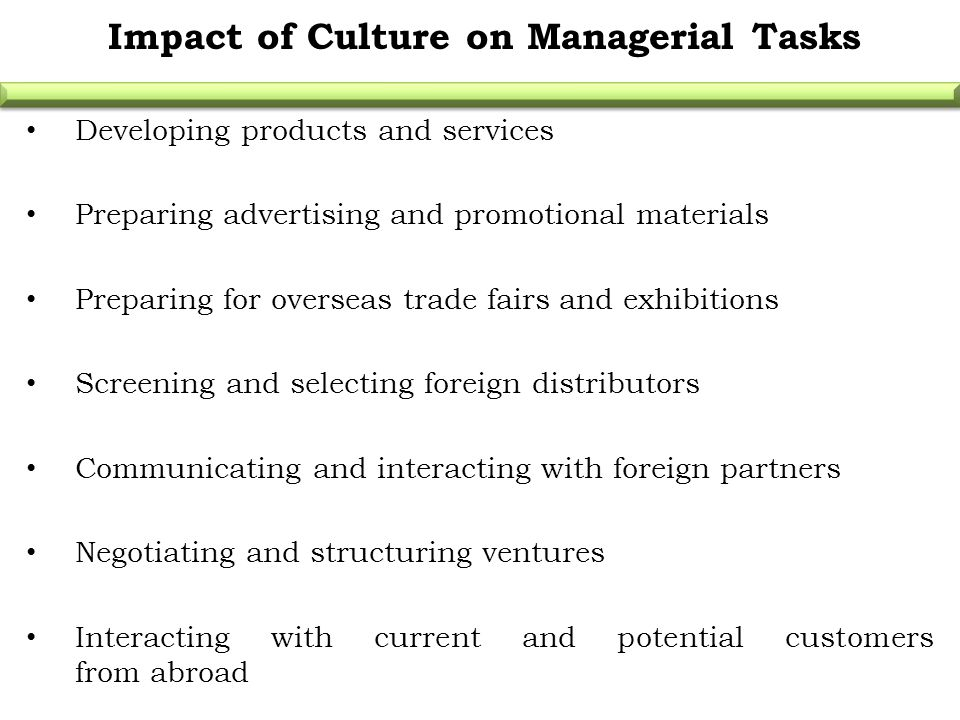impacts of cultural differences on international business negotiations How does culture impact on international business and the cultural differences inhibit international alliance partners' employees' ability to interact effectively with this relationship-oriented negotiation.