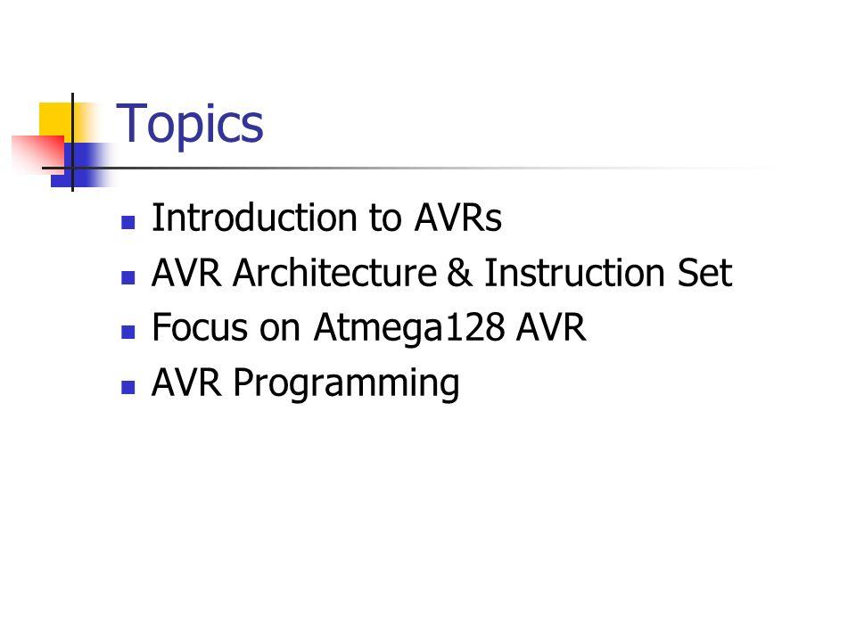 AVR Microcontrollers.