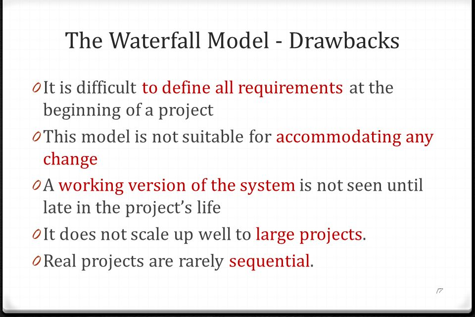 Sec 308 yaz l m m hendisli i software process models ppt for Waterfall model is not suitable for