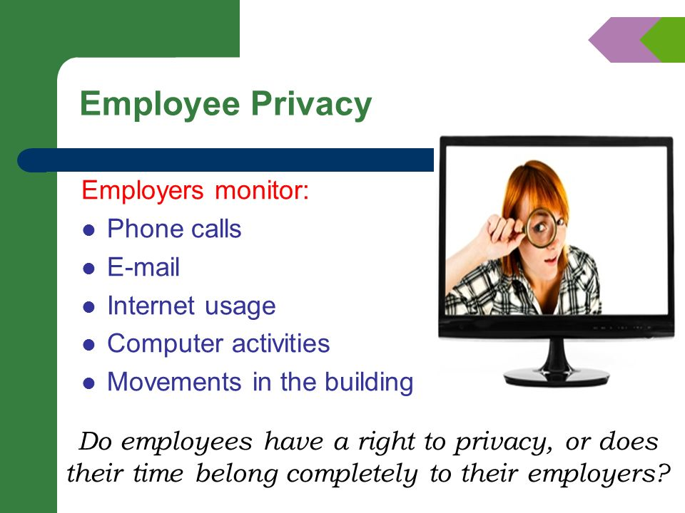 is employer monitoring of employee e mail Monitoring employee use of e-mail and the internet 1 introduction  it is likely that the employer has a right to search an employee's e-mail as part of.