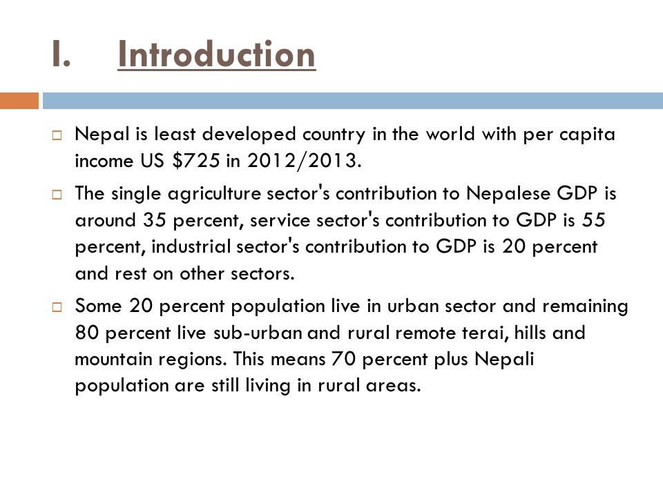 Issues and challenges of involvement of nepal rastra bank ppt i introduction nepal is least developed country in the world with per capita income us altavistaventures Images