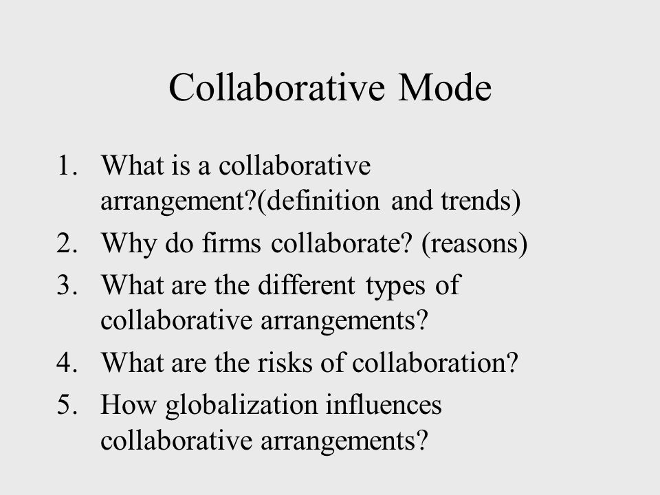 an analysis of the motives for collaborative arrangements Develop an analysis of local needs which can be addressed collaboratively  the challenges of collaborative multi-agency working  the reasons for change, and .