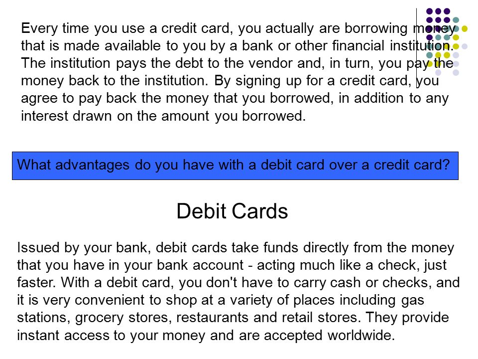 Every Time You Use A Credit Card Actually Are Borrowing Money That Is Made