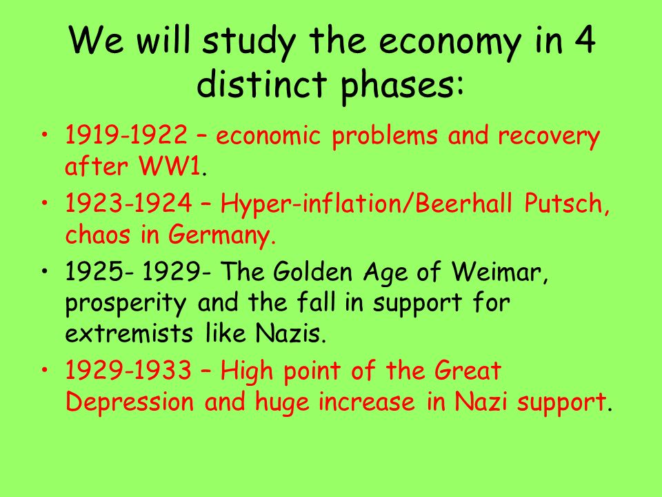 germany and the golden age of weimar The end of the weimar republic, germany,  instability during the weimar period despite the weimar republic achieving  from the golden era to the great.