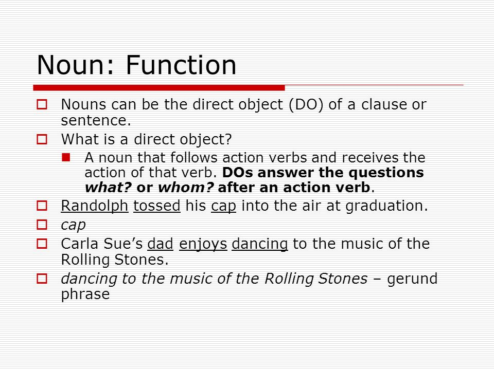 Objective sentence