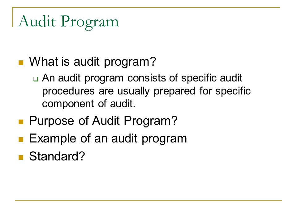 Audit Program Audit Programme Statutory Bank Branch Audit Technical