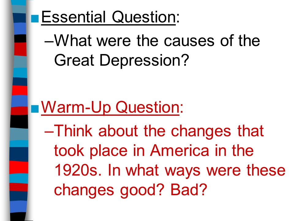 the great depression brought changes to Changes brought about in response to the impact of the great depression were sufficient to permit the 1930s to be described as marking the definitive latin american transition from export-led growth to inward-looking development.