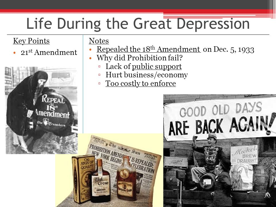 a life during the great american depression