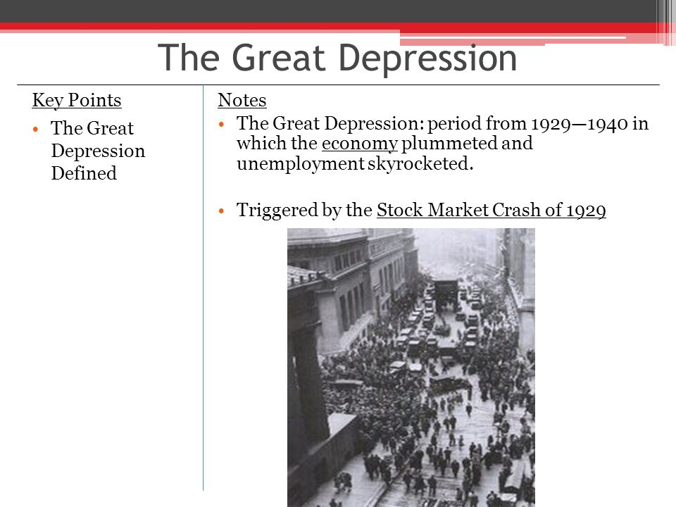 key points of the great depression 1930s important news and events, key technology fashion and popular culture  the thirties saw the growth of shanty towns caused by the great depression.