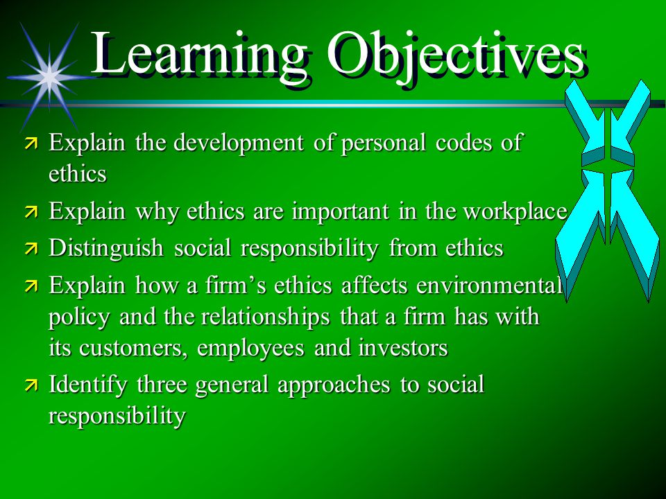 Responsibility ethics social responsibility ppt download learning objectives explain the development of personal codes of ethics explain why ethics are important publicscrutiny