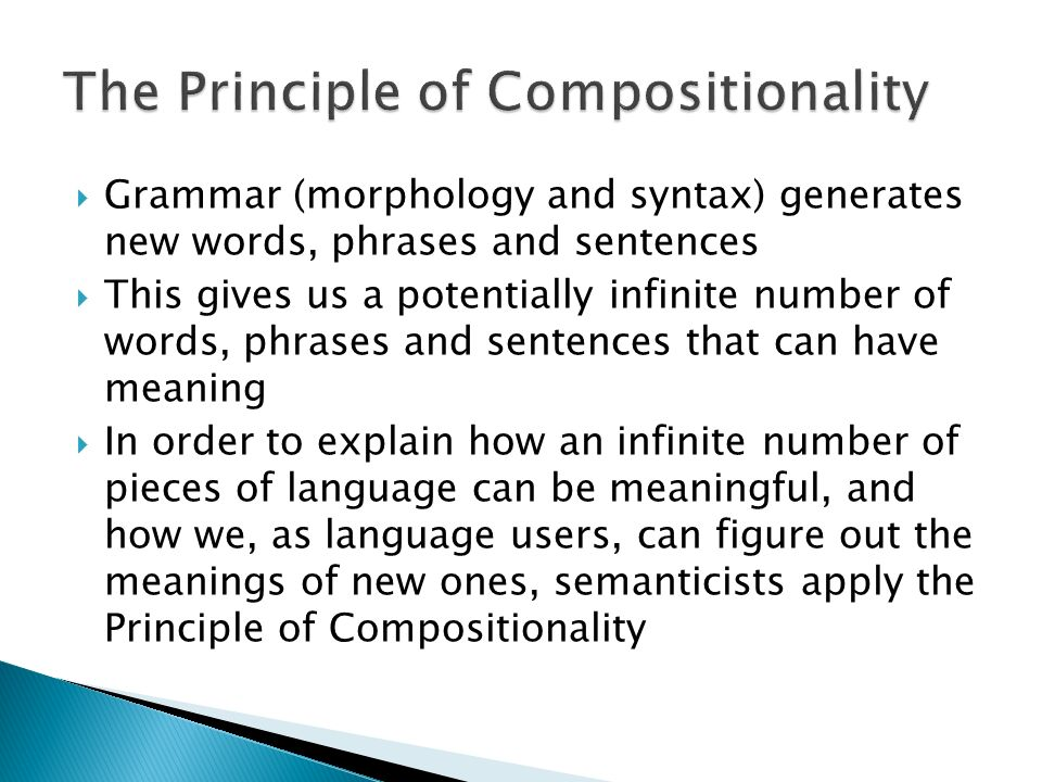 The Principle of Compositionality