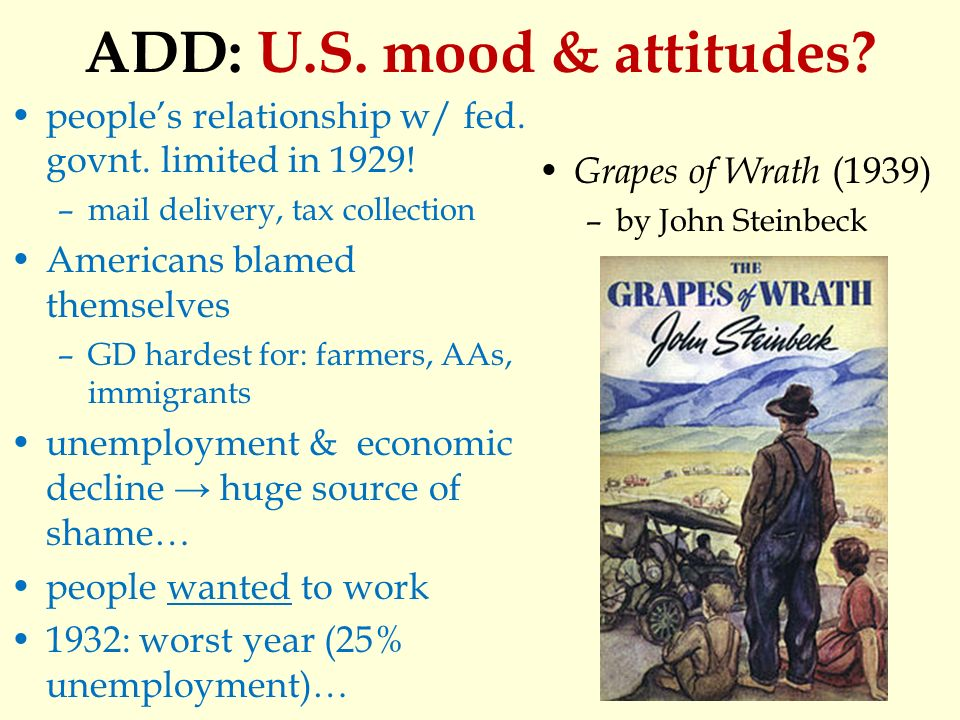 an analysis of economic depression in cinderella man and the grapes of wrath John steinbeck's masterpiece the grapes of wrath stands as a chronicle of the great depression and as a commentary on the economic and social system that gave rise to it his themes of man's.