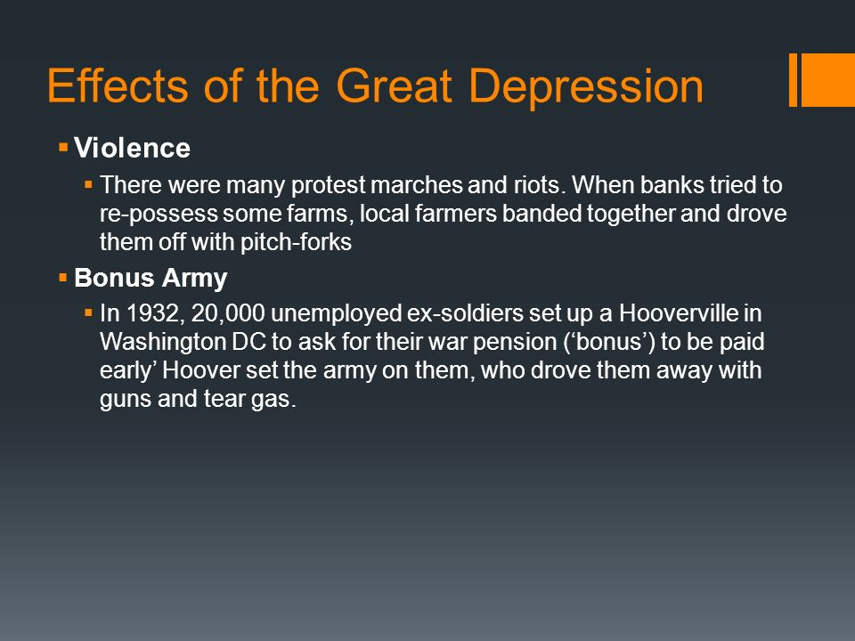 effects of the great depression essay America had gone through hard times before: a bank panic and depression in the early 1820s, and other economic hard times in the late.