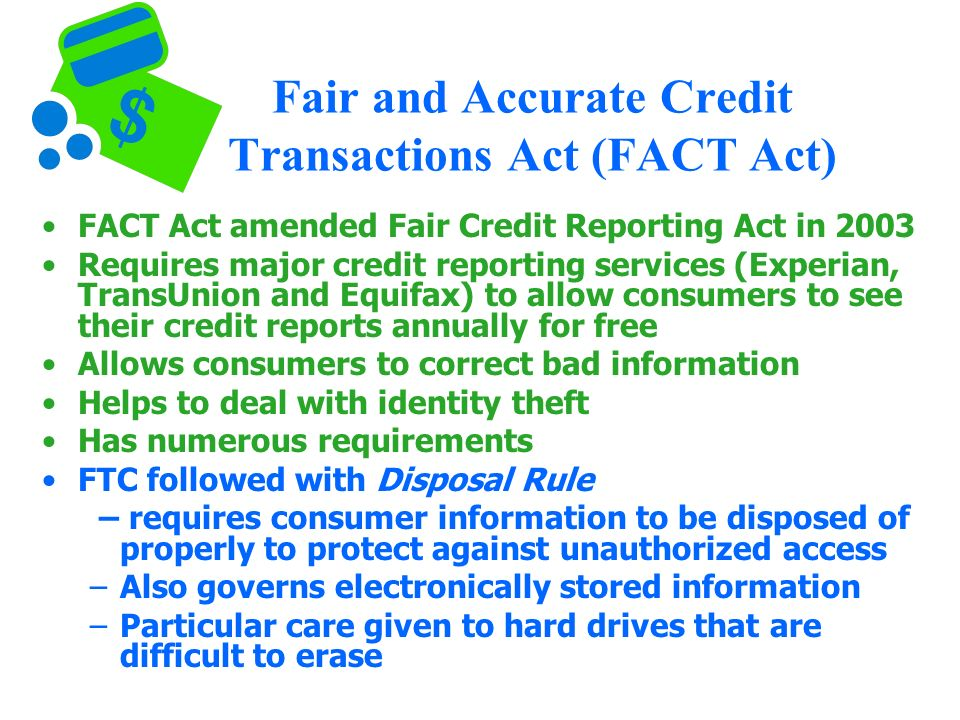 Consumer protection chapter ppt download 30 fair and accurate credit transactions publicscrutiny Gallery