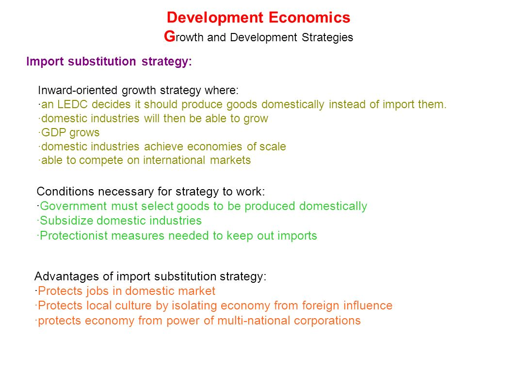 import substitution advantages and disadvantages