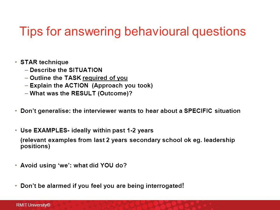 behavioural interview questions examples