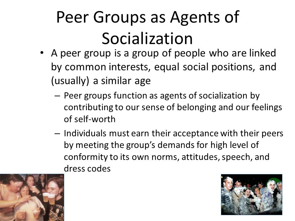 peer group socialization