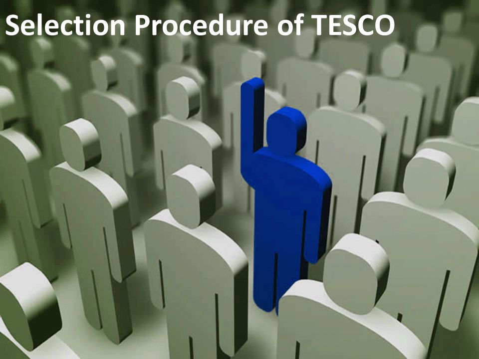 tesco selection process