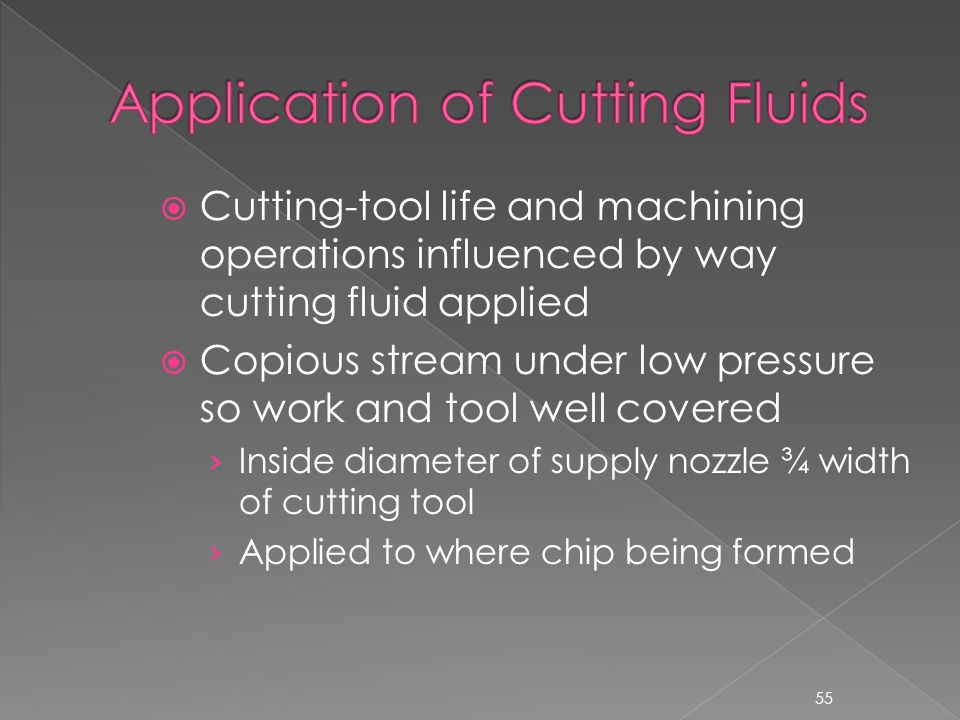 application of cutting fluid ppt