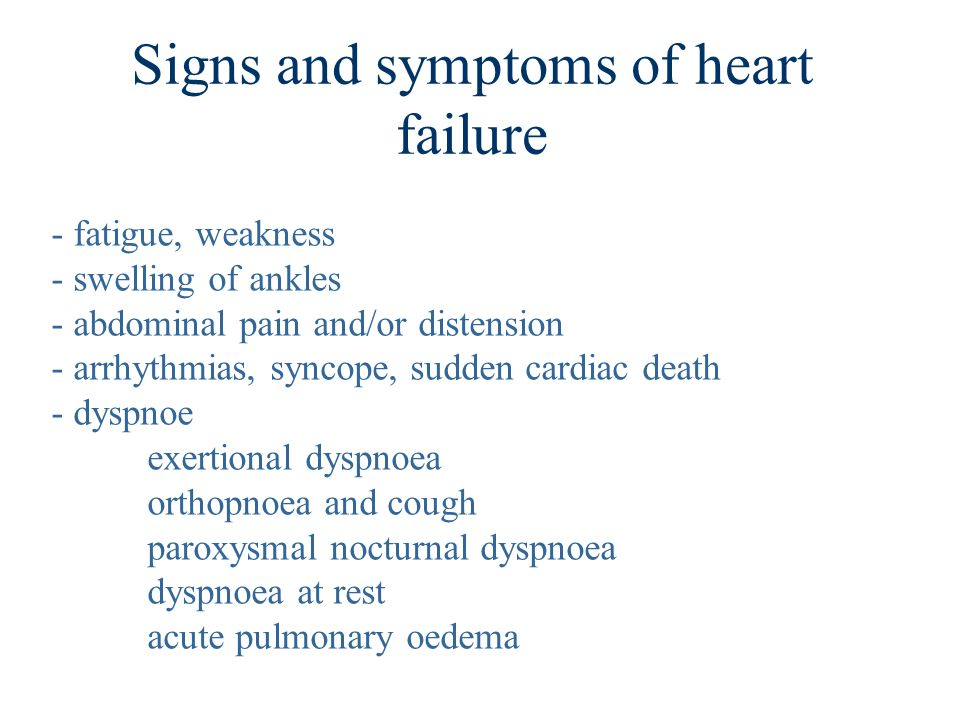 diagnosis of cardiac insufficiency Congestive heart failure (chf) is a non-specific symptom that can occur with many different types of heart disease chf can be either left-sided or right-sided depending on which part of the heart is involved occasionally, chf may be biventricular, affecting both sides of the heart at once.