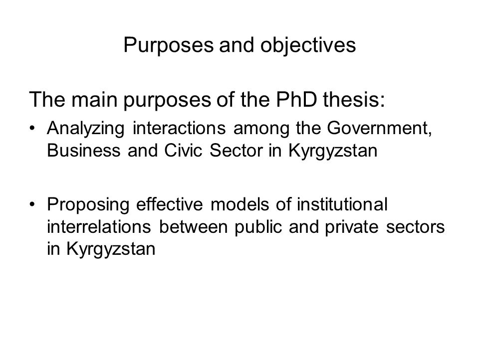 the main objective of this thesis In a study, the primary research question should be clearly stated at the end of  the  the primary objective should be coupled with the hypothesis of the study.