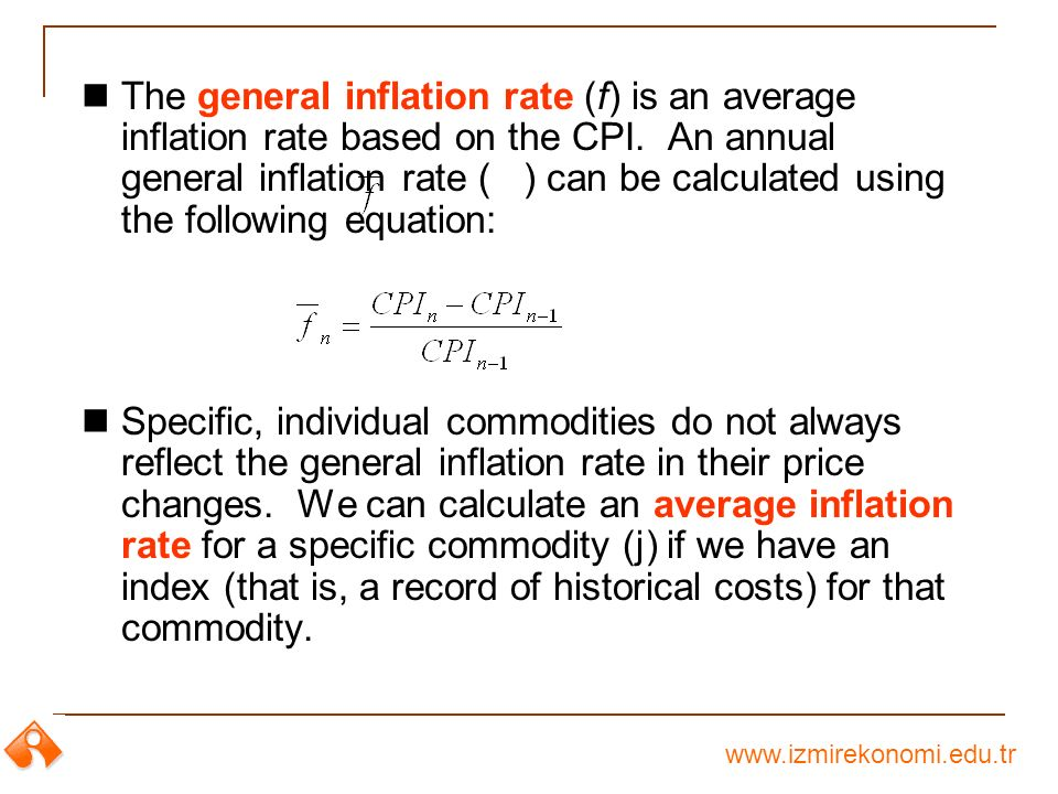 how do you calculate inflation