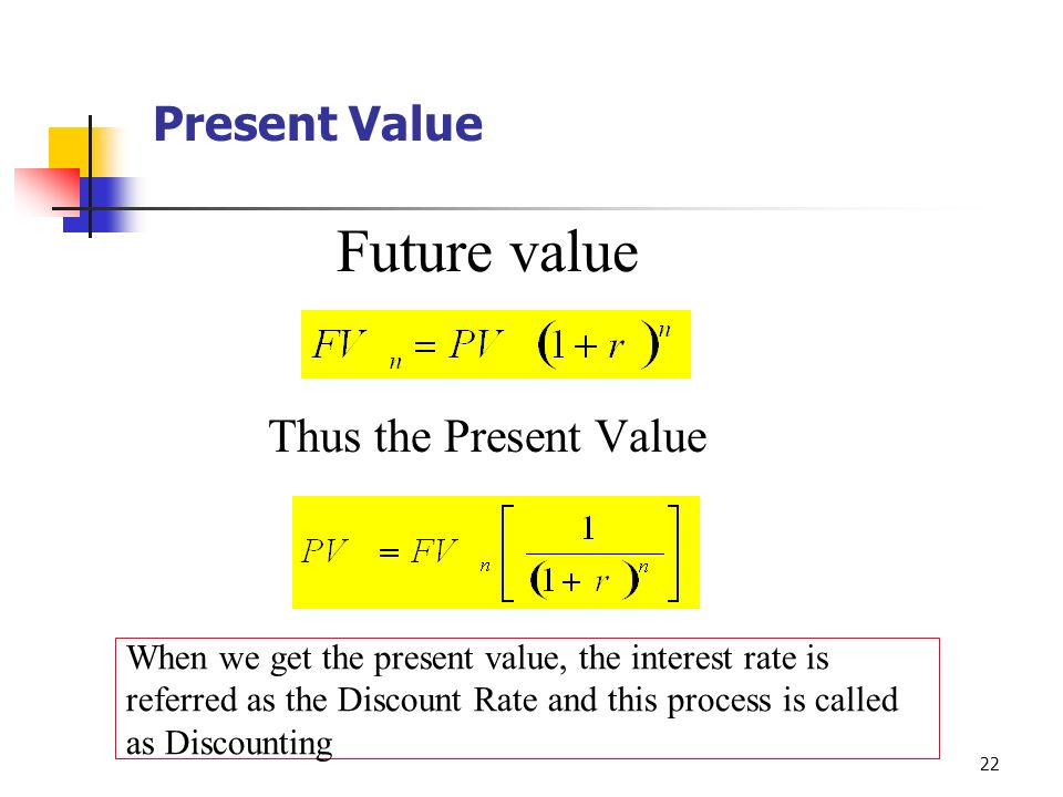 concept of present value The primary difference between compounding and discounting is that  the whole concept is about the present value and  in discounting, present value can be.