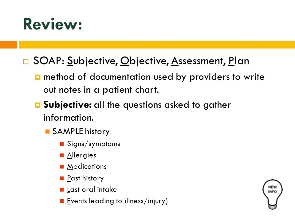 Best Subjective Objective Assessment Planning Note Pictures  Best