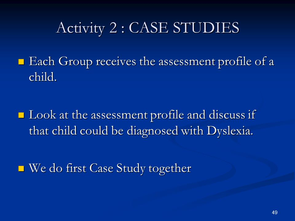 case study of a child with dyslexia Dyslexia and specific learning difficulties self-study dyslexia and specific learning difficulties and teaching children and young people with dyslexia.