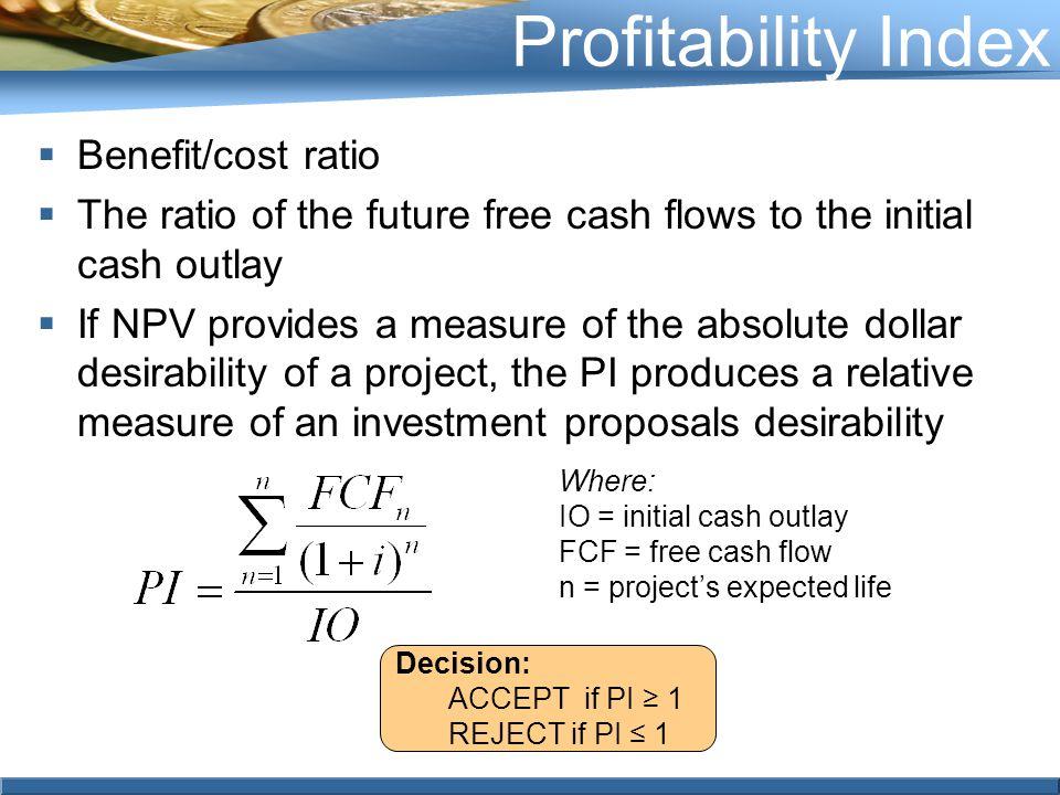 advantages and disadvantages of profitability index pdf