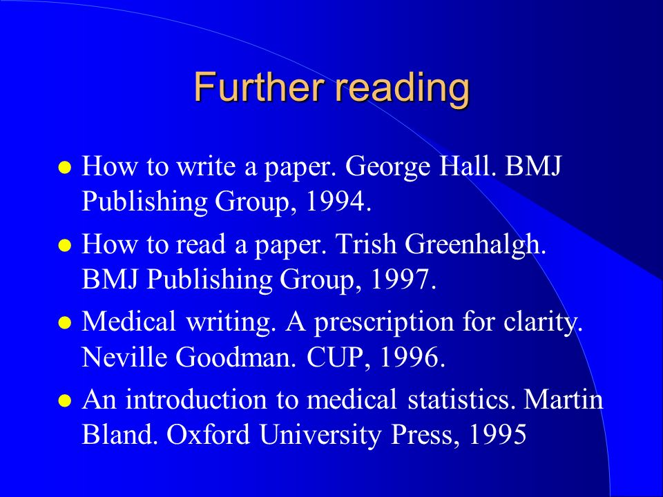 read research paper greenhalgh How to read a paper, 5th edition by trisha greenhalgh | $65 .