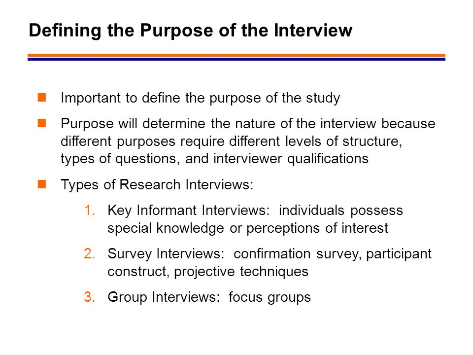 """purpose of an interview The real purpose of informational interviews is to build relationships and """"develop future allies, supporters before each interview."""