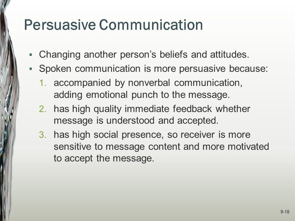 Communicating in Teams and Organizations - ppt video ... Receiver Person
