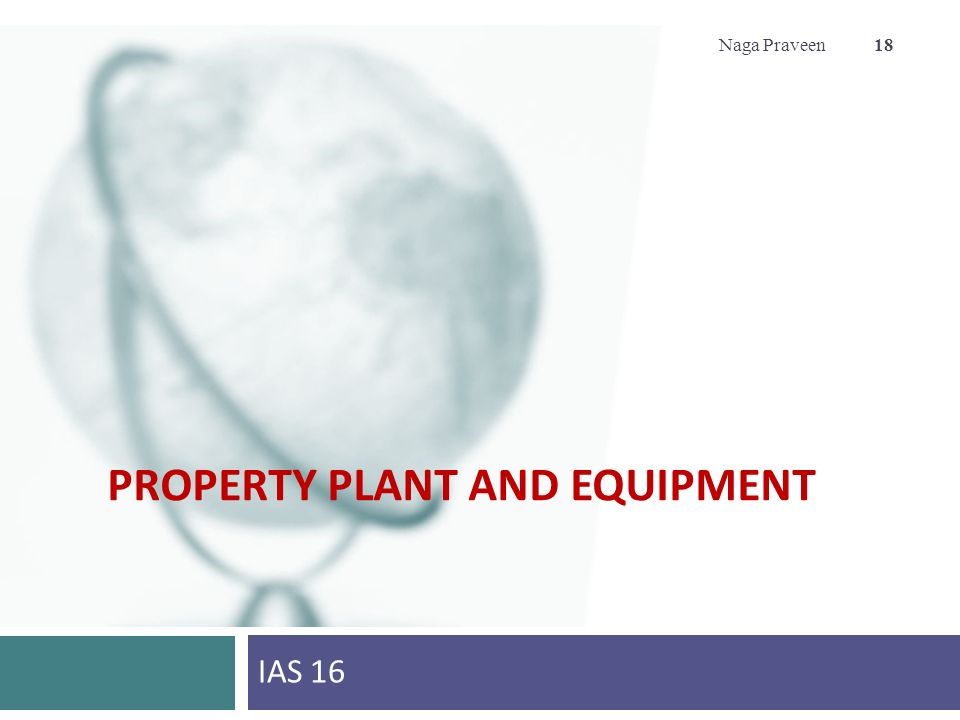 Accounting for Property under IAS/IFRS