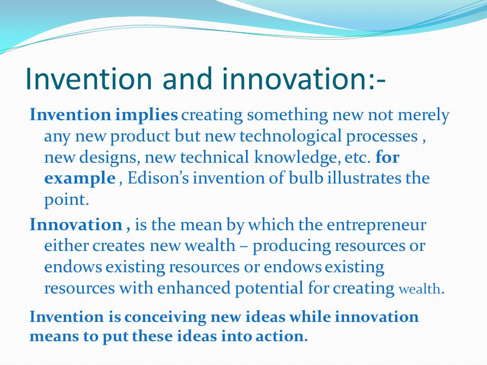 Concept of entrepreneurship ppt video online download for Innovative product ideas not yet invented