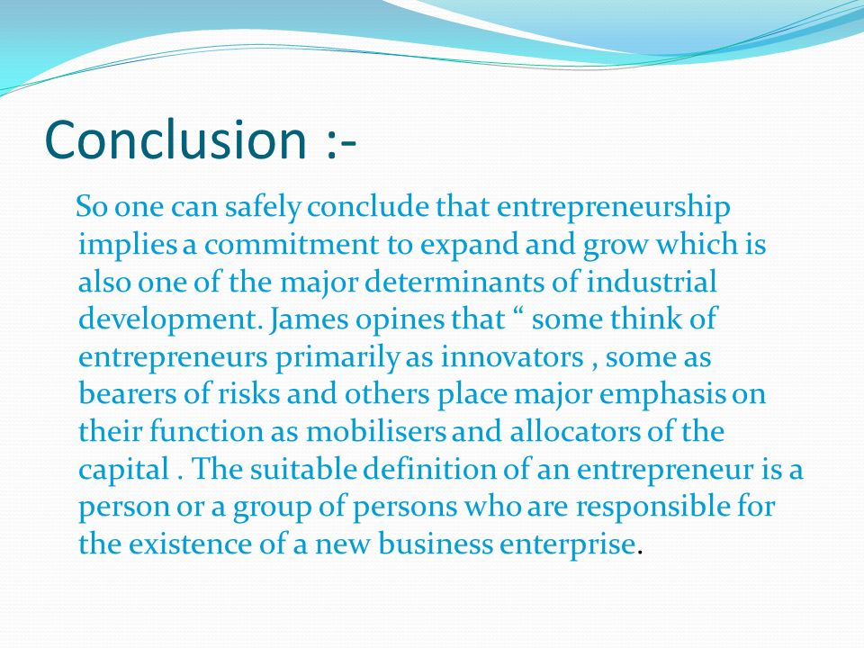 Concept Of Entrepreneurship Ppt Video Online Download