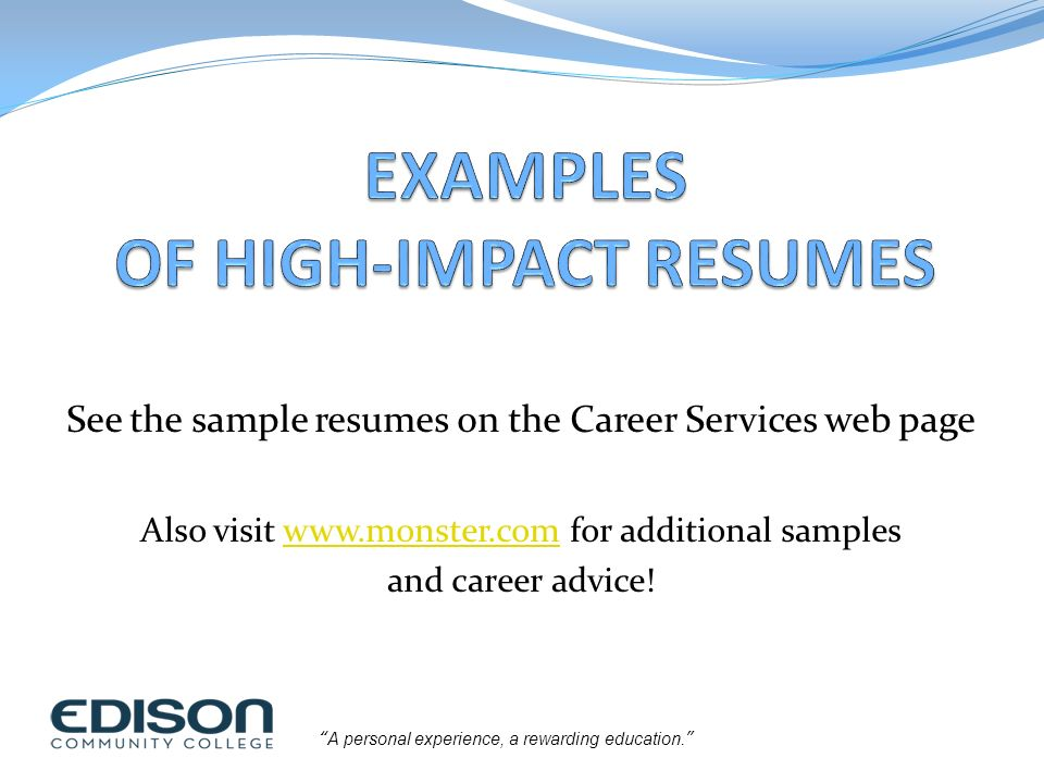 building a highimpact resume ppt download