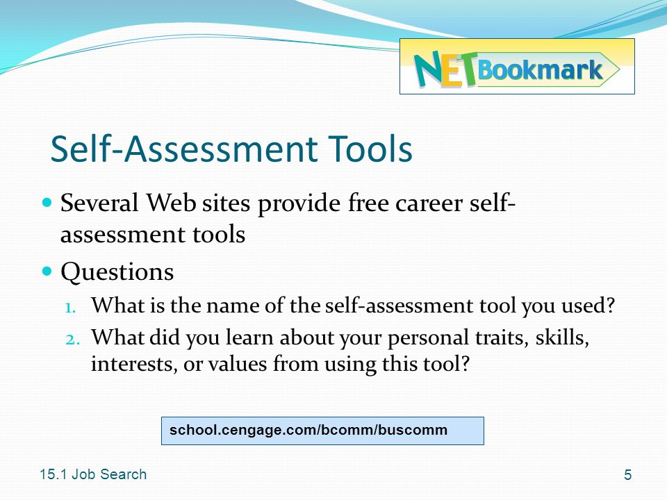 Self-Assessment Tools
