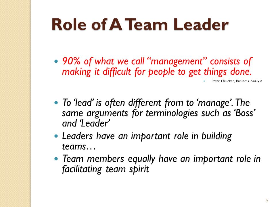 role of a team leader is 6 qualities in a leadership role model a short while back, i wrote a post about disruption not being a career strategy  to be a leader and a role model.